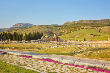 Ruins of ancient city, Hierapolis near Pamukkale
