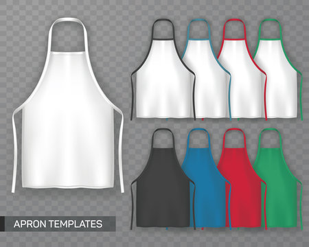 Set of isolated cooking apron or working uniform