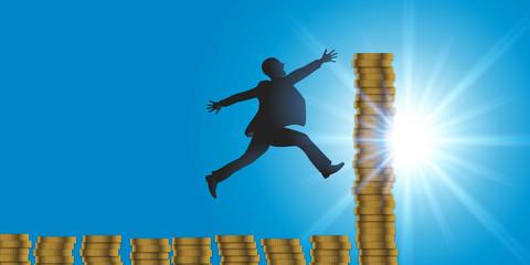 business - gagner de l'argent - concept - motivation - réussite - succès - richesse - riche