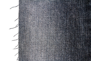 Piece of dark jeans fabric
