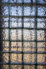 old window from small tiled glasses