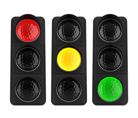 Traffic Lights Isolated