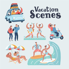 People in vacation