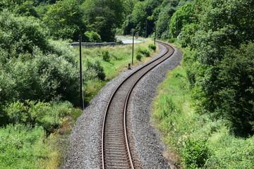 Eisenbahn S-Kurve bei Monreal