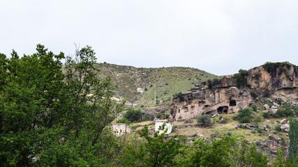 old cave houses in Ihlara Valley in Cappadocia
