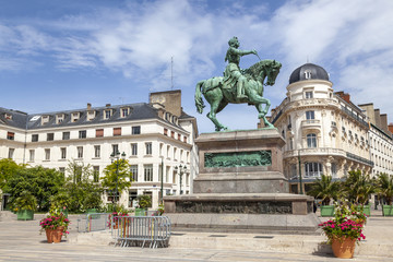 Statue Jeanne d´Arc in Orleans