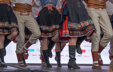 Folklore feet on the stage