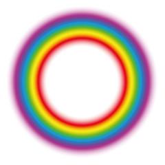 Illuminating rainbow gradient aura ring. Subtle body circle. Vector illustration on white background.