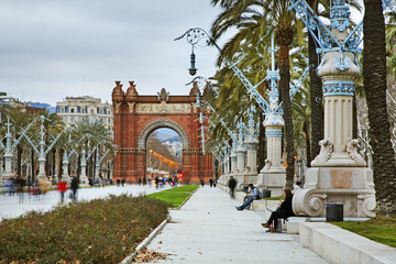 Triumphal arch in Barcelona. Spain