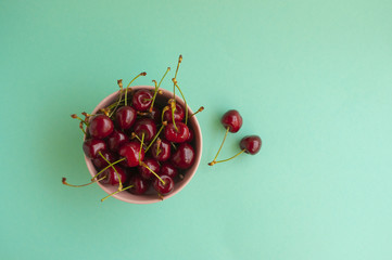 A bowl with cherry berries.