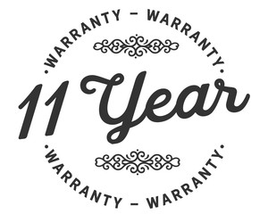 11 years warranty icon stamp guarantee