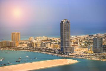 Fototapete - View of Abu Dhabi in the United Arab Emirates