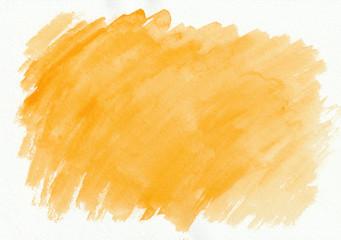 Orange or ginger horizontal  watercolor  gradient  hand drawn  background.