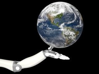 ロボット アンドロイド 手 地球 Robot Android Hand Earth