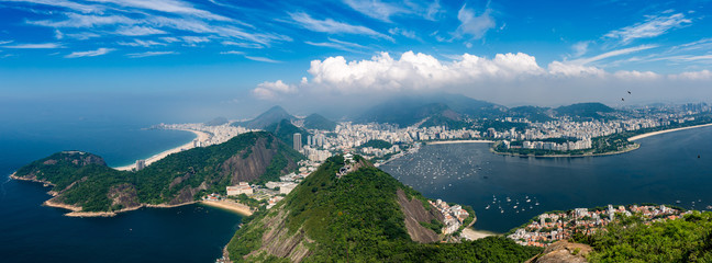 Photo sur Plexiglas Amérique du Sud Panorama Rio de Janeiro seen from high vantage point