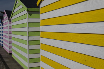 Beach huts on Hastings Pier