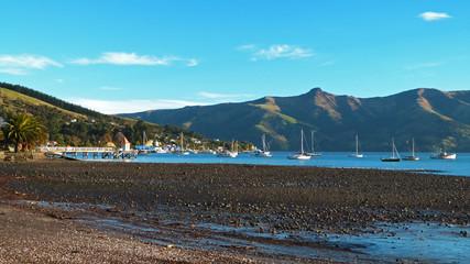French settlement Akaroa, Banks Peninsula, New Zealand