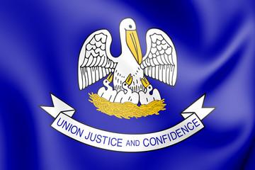 3D Flag of Louisiana (1912-2006), USA.