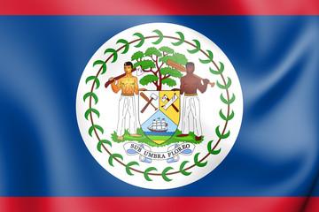 3D Flag of Belize.