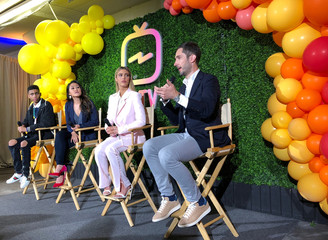 Instagram Chief Executive Kevin Systrom answers a question at a news conference in San Francisco