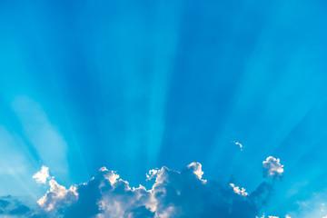 Blue skies clouds