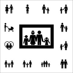 family photo icon. Detailed set of Family icons. Premium quality graphic design sign. One of the collection icons for websites, web design, mobile app