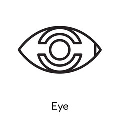 Eye icon vector sign and symbol isolated on white background, Eye logo concept