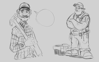 Mechanic Character Designs