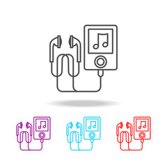 Music player icon. Elements of life style in multi colored icons. Premium quality graphic design icon. Simple icon for websites, web design, mobile app, info graphics