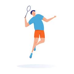 Sport player tennis vector mascot illustartion modern