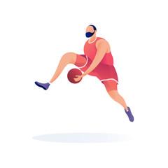 Sport player basketball vector mascot illustartion modern