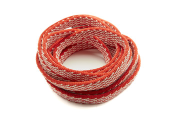 One Rope, Red Coiled in a spiral