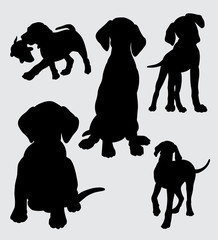funny and cute dog silhouette