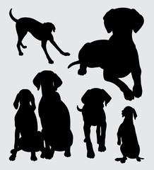 Dog animal silhouette