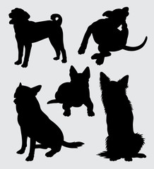 German shepherd and kind of dog silhouette