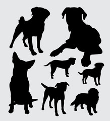 Pet dog animal silhouette. good use for symbol, logo, web icon, mascot, sticker, or any design you want.