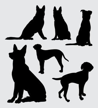 German shepherd and dalmatian dog silhouette.