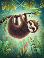 Cute sloth