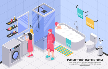 Family Bathroom Isometric