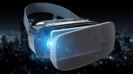 Virtual reality glasses technology illustration 3D rendering