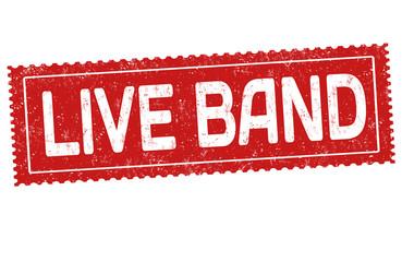 Live band grunge rubber stamp