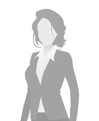 Default placeholder businesswoman half-length por