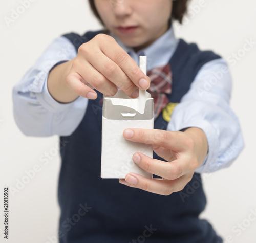 """タバコを吸う女子高校生"""" photo ..."""