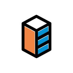 Simple Compact Building Icon Symbol