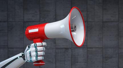 Robot Hand Bullhorn