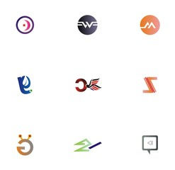 logo set design for icon, website, element, and company