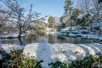 有栖川宮記念公園の雪景色