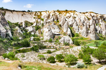 rural scenery with cave churches near Goreme