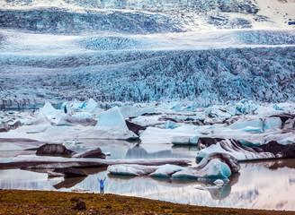 The sunset  glacier Vatnajokull