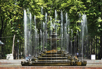 Fountain in central park of Stefan the Great. Kishinev. Moldova
